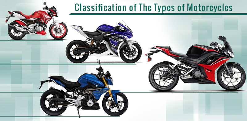 classify types motorcycles