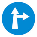 Compulsory Ahead or Turn Right