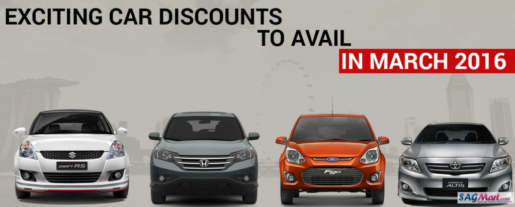 Discount on cars march 2016
