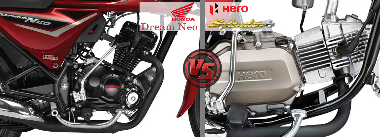 Honda Dream Neo Vs Hero Splendor Plus