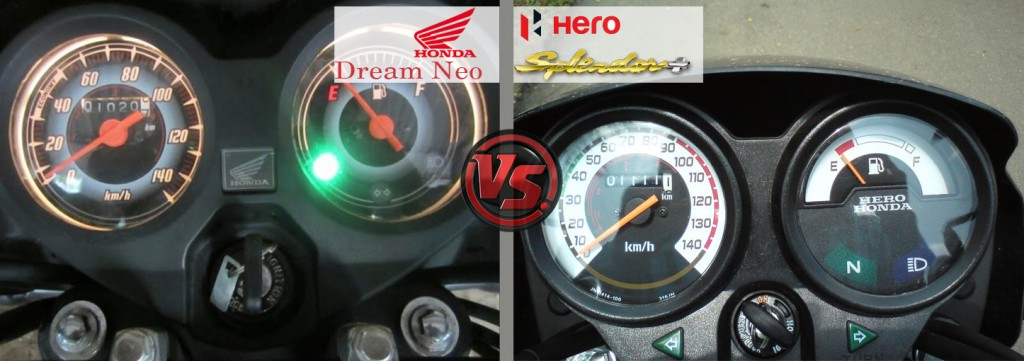 Instrument Panel: Honda Dream Neo VS Hero Splendor Plus