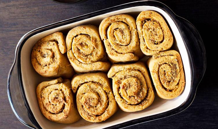 Savory bread roll