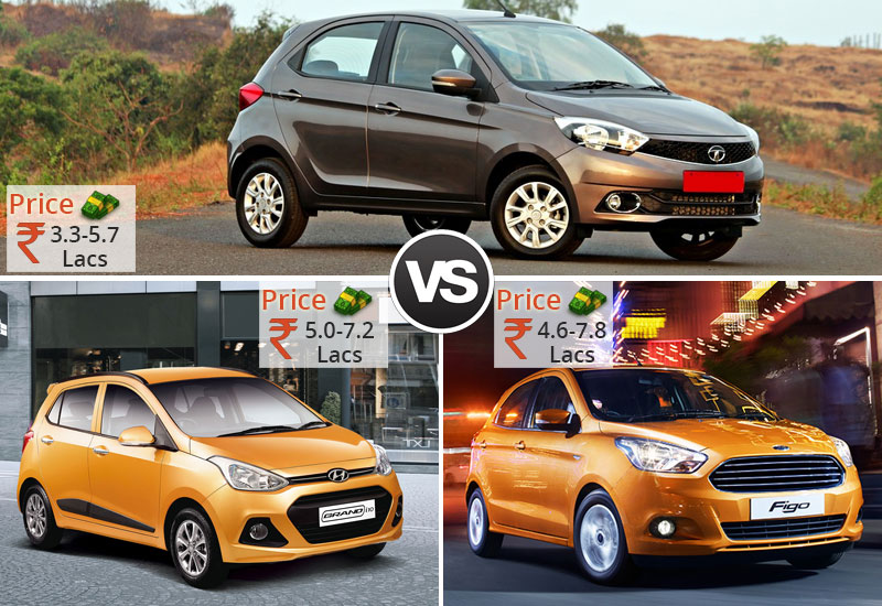 Tiago-VS-Grand-i10-VS-Figo-Price