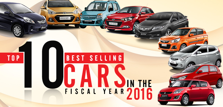 Top-10-Best-Selling-Cars in Fiscal year 2016