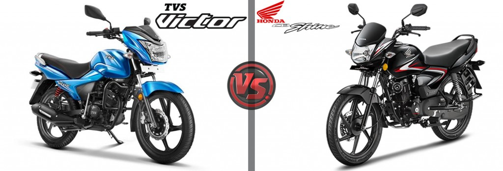 All New TVS Victor VS Honda CB Shine