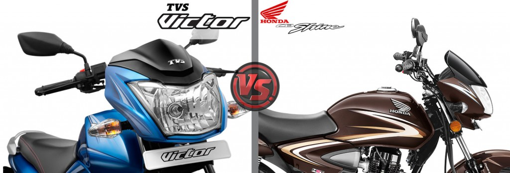 Design and Style: All New TVS Victor VS Honda CB Shine