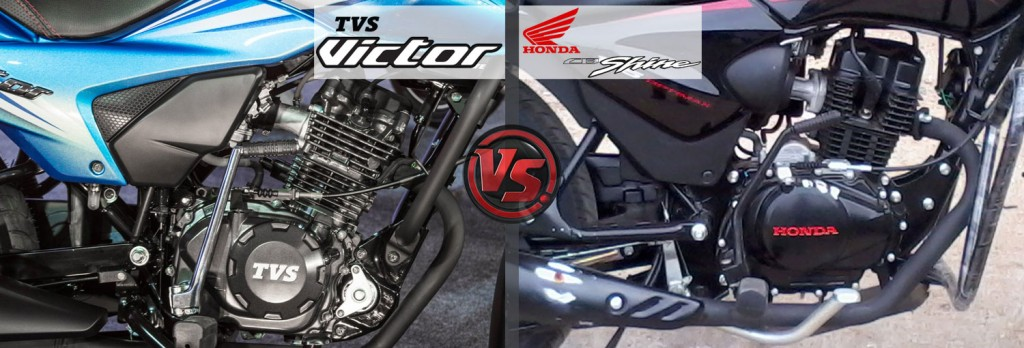 Engine and Power: All New TVS Victor VS Honda CB Shine