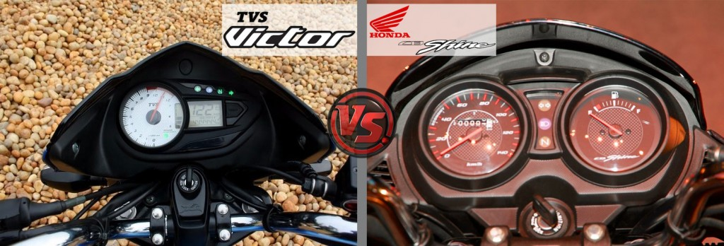 Instrument Panel: All New TVS Victor VS Honda CB Shine