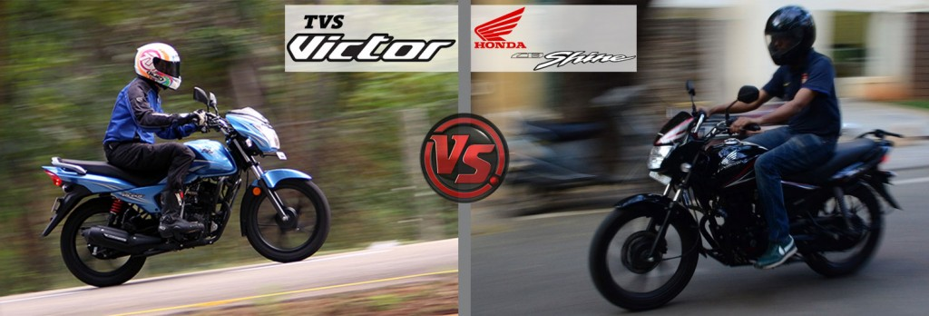 Riding And Handling: All New TVS Victor VS Honda CB Shine