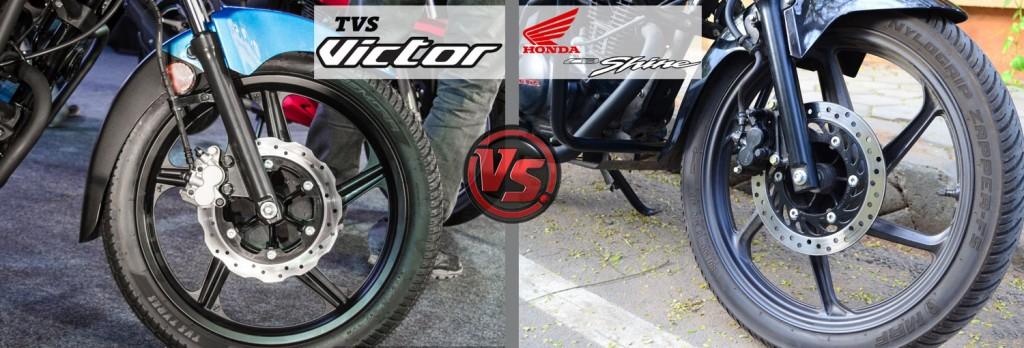 Safety Features: All New TVS  Victor VS Honda CB Shine