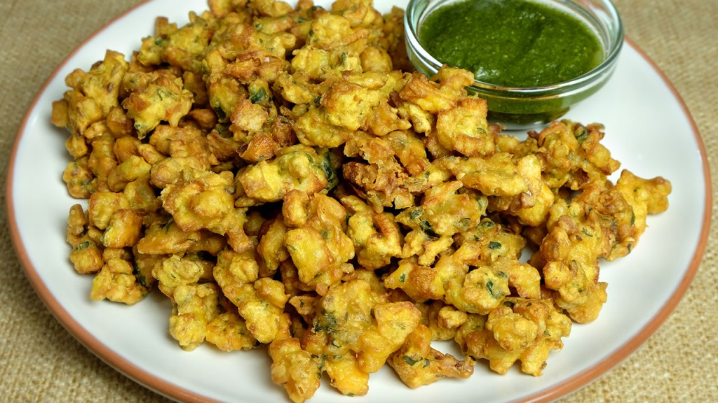 Relish Hot Served Moong Dal Pakode with Chutney This ...