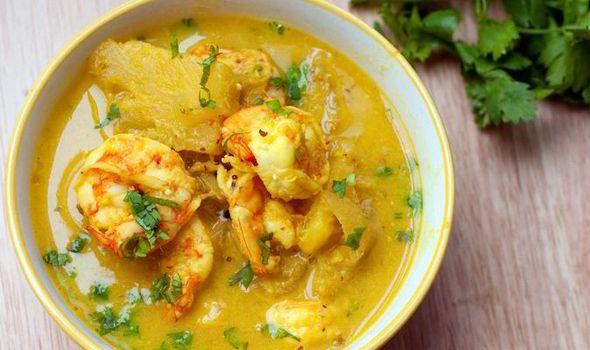 Prawns mango Curry