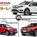 Honda BR V-VS Hyundai Creta VS Renault Duster Comparison