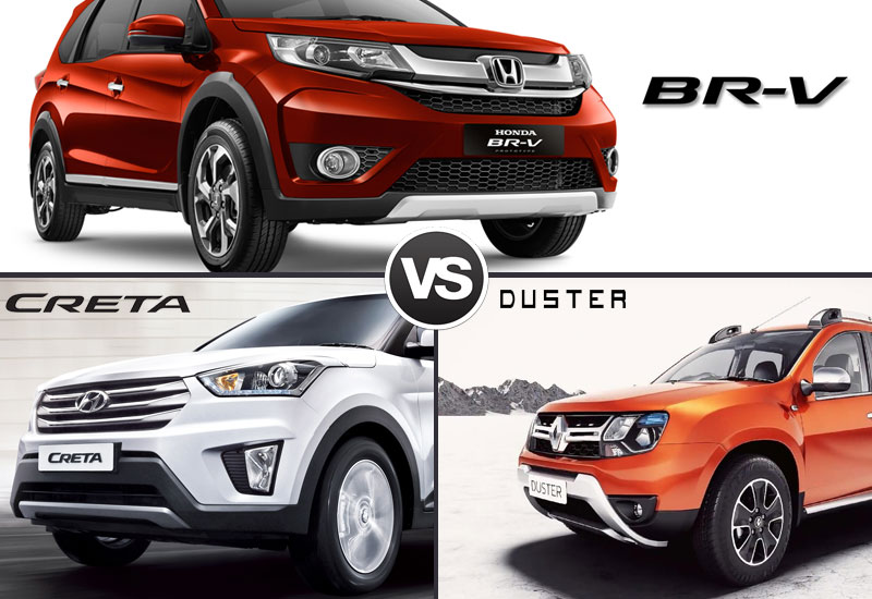 Honda BR V-VS Hyundai Creta VS Renault Duster Style and Design Comparison