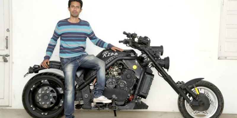 India's First Handmade Performance Bike- Ridd – a 1000cc chopper