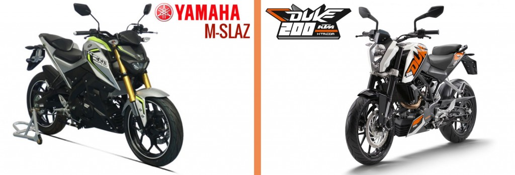 Yamaha M-Slaz VS KTM Duke 200