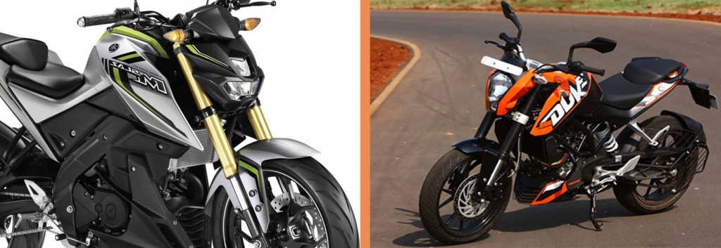 Design: Yamaha M-Slaz VS KTM Duke 200