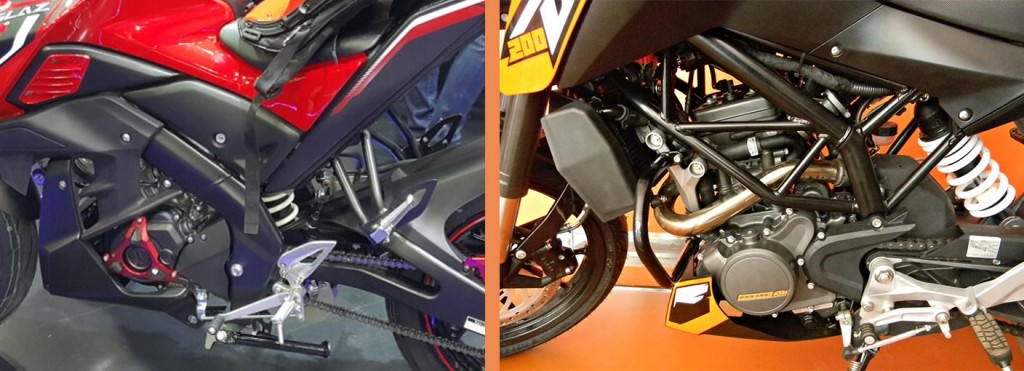 Engine: Yamaha M-Slaz vs KTM Duke 200