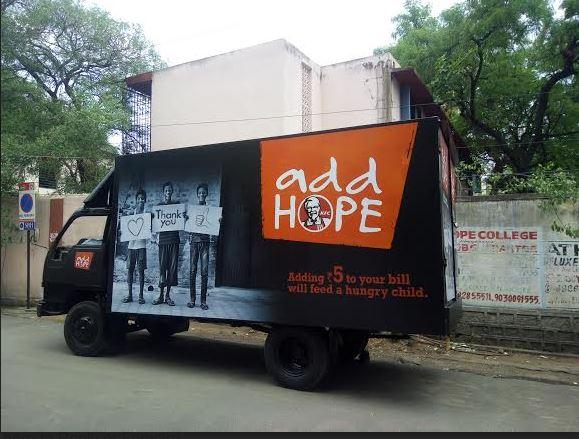 Add HOPE- An Initiative by KFC India
