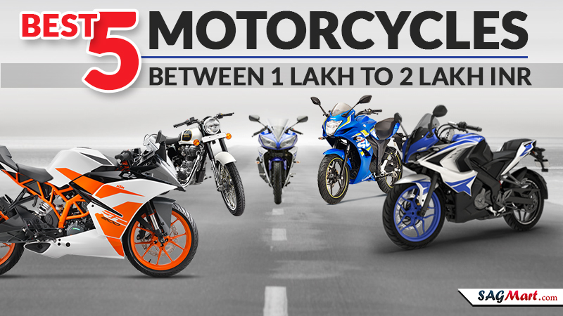 Best 5 Motorcycles Between 1 Lakh to 2 Lakh INR
