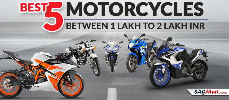 Best 5 Motorcycles Under 1 Lakh to 2 Lakh