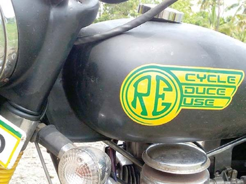 cooking oil powered motorcycle royal enfield