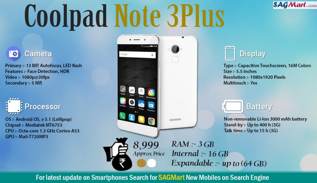 Coolpad Note 3 Plus Infographic