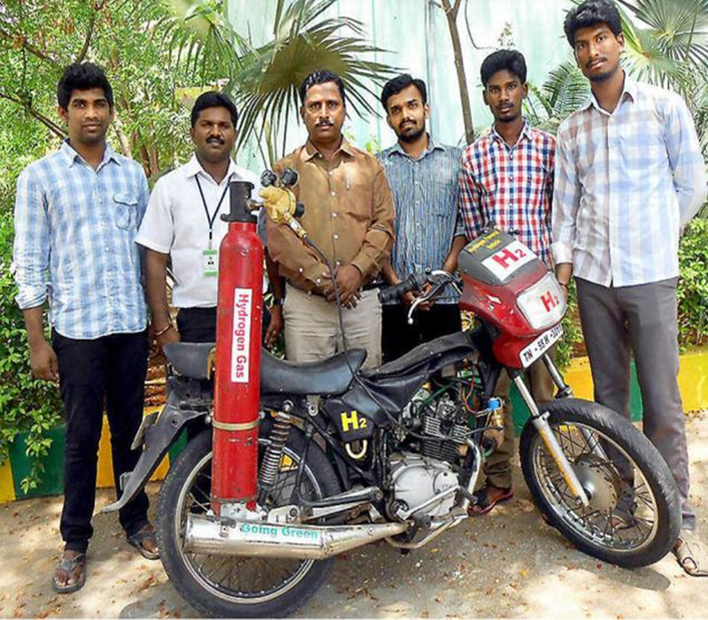 Hydrogen Powered Invention Motorcycle