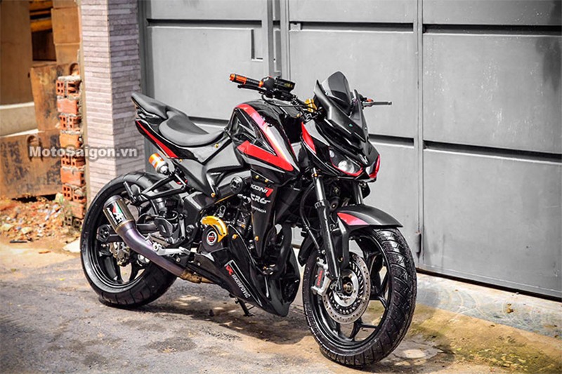 Bajaj Pulsar 200NS Modified as Kawasaki Z1000