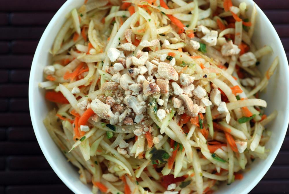Raw Mango and Papaya Salad