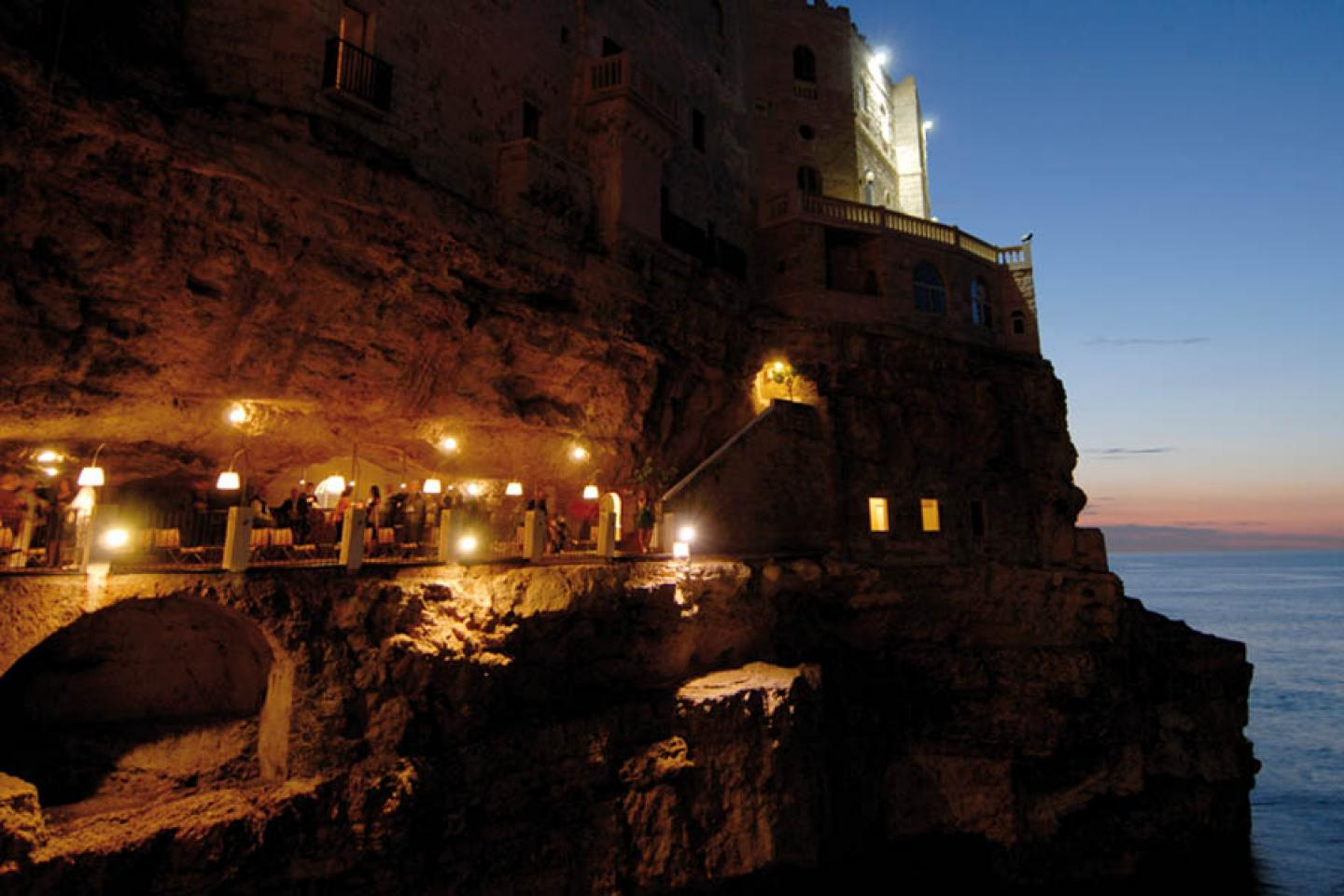 The summer restaurant in the cave