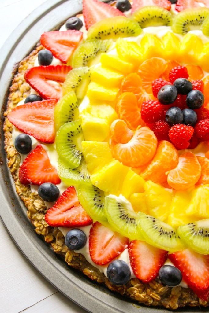 3-ingredient crust fruit pizza