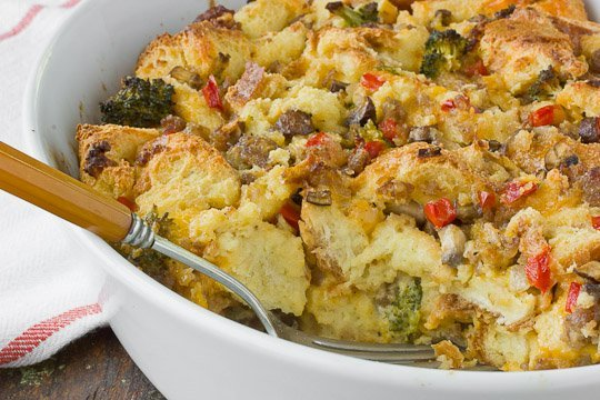 Egg Bake with Chicken Sausage and Veggies