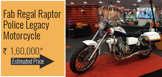 Fab Regal Raptor Police Legacy Motorcycle