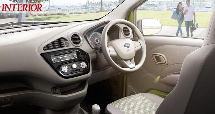 Interior of the Datsun Redi Go hatch