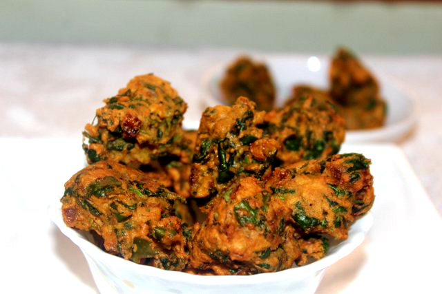New Potato Pakora with Methi