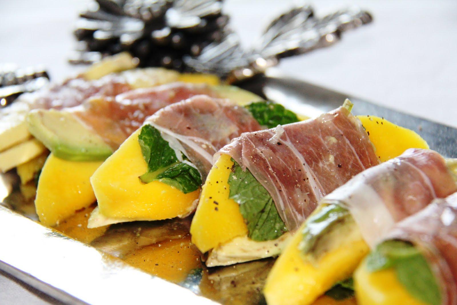 Prosciutto-Wrapped Mango
