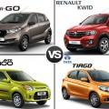 Datsun Redi Go vs Renault Kwid vs Maruti Alto 800 vs Tata Tiago