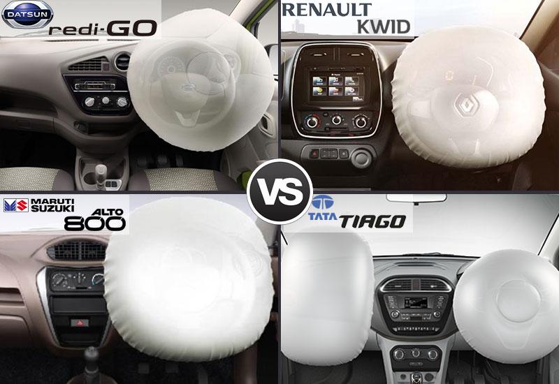 Datsun Redi Go vs Renault Kwid vs Maruti Alto 800 vs Tata Tiago  Features