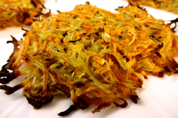 Zucchini and Sweet Potato Latkes