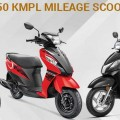 38 KMPL to 50 KMPL Mileage Scooters