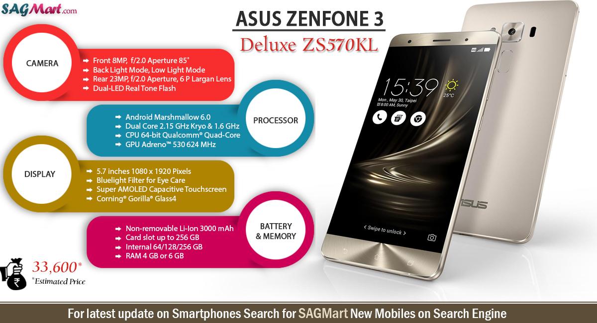 Asus Zenfone 3 ZE552KL Zenfone 3 Deluxe ZS570KL