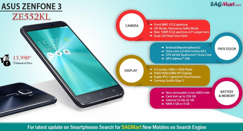 Asus Zenfone 3 ZE552KL Infographics