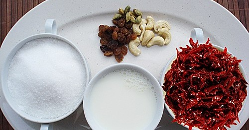 Beetroot Halwa Ingredients