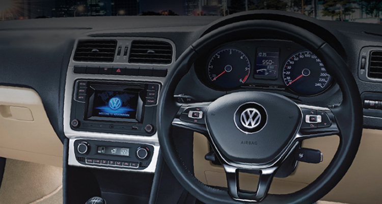 Volkswagen Polo Inside the Cabin with Dual Toned Dash