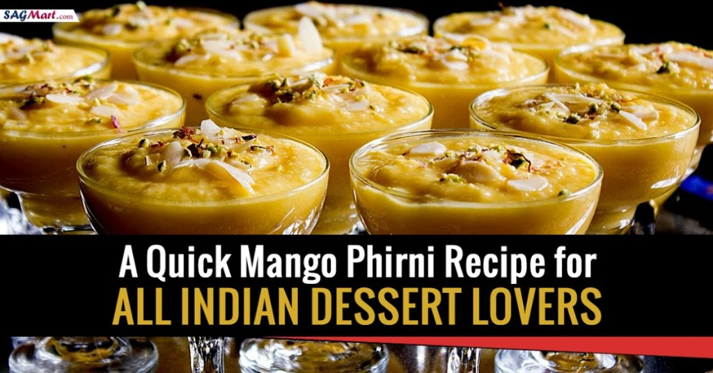 A quick mango phirni recipe
