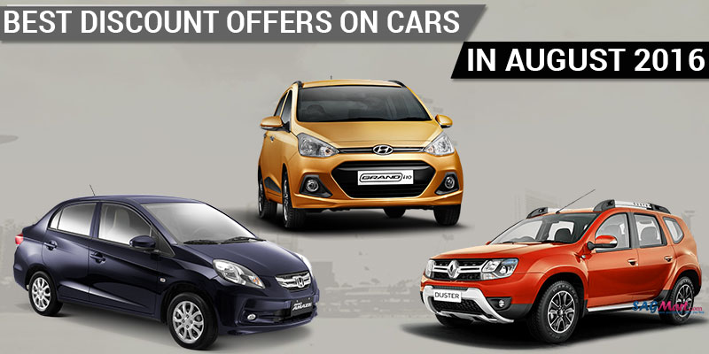 Best Discount Offers on Cars in August 2016 in India