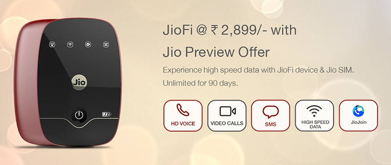 Jio-Fi Portable 4G Wi-Fi Device