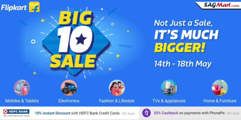 Flipkart Big 10 Sale