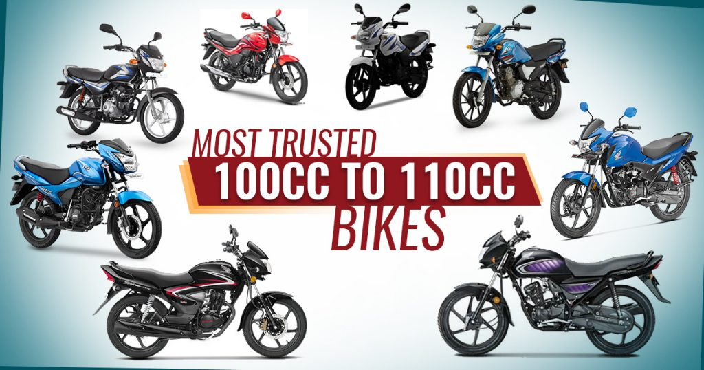 Most Trusted 100cc to 110cc Bikes